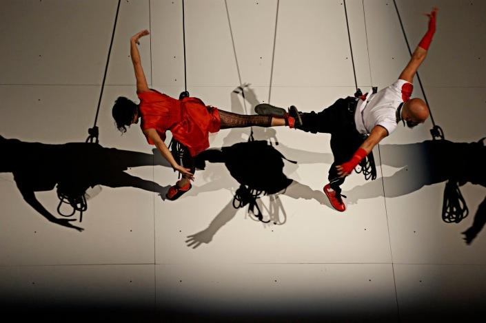 Fotografía nocturna-Sacude-Danza vertical-Danza aérea
