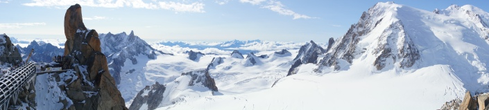 Vistas de Mont Blanc, Chamonix, desde Aiguille du midi